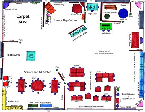 preschool room arrangement floor plans ideal kindergarten classroom eced 417 flickr photo