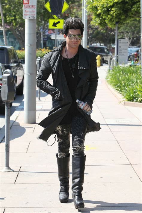 adam lambert at maxfield zimbio