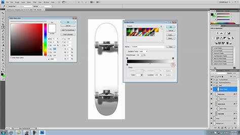 How To Make A Cool Skateboard Template Using Photoshop Cs4 Youtube Longboard Template Maker