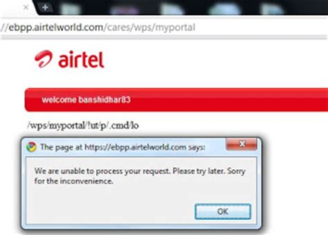not able to login to airtel in expert answers to all
