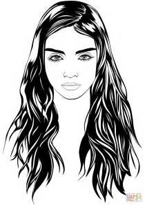 Dress Logo Kacamata dibujo de retrato de mujer para colorear dibujos para