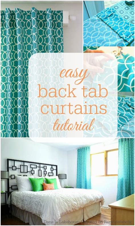 sewing back tab curtains 25 unique tab curtains ideas on pinterest easy curtains