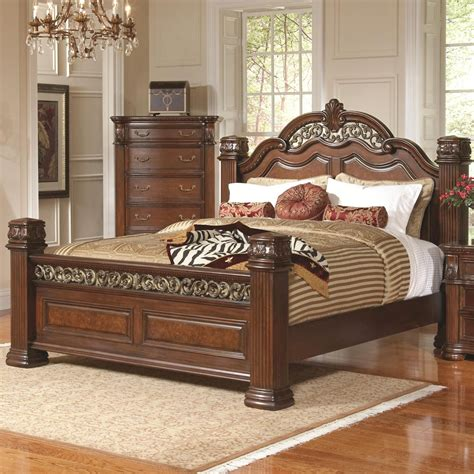 Headboard King Bed Dubarry King Size Grand Headboard Footboard Bed With Pillar Posts And Intricate Carvings Beds