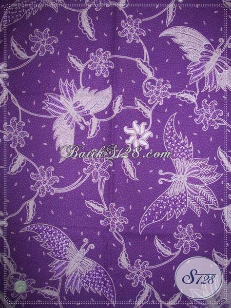 Kain Batik Jumputan Handmade Warna Ungu motif kupu untuk kain batik cabut tulis warna ungu khas motif batik asli kbt696 toko
