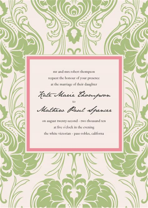 free art nouveau invitation template weddingbee photo