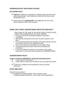 cell phone policy template free printable cell phone policy form generic