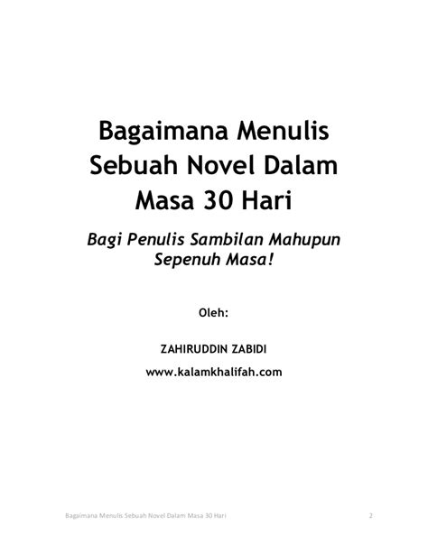Sebuah Novel Hendri Teja Original ebook menulis novel 30 hari