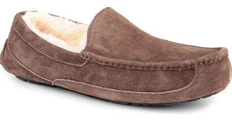 ugg loafers for sale ugg ascot loafers in brown for lyst