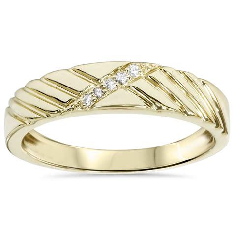 mens wedding ring yellow gold ebay