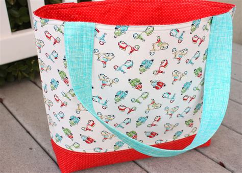 tutorial tote bag simple sturdy tote bag tutorial diary of a quilter a