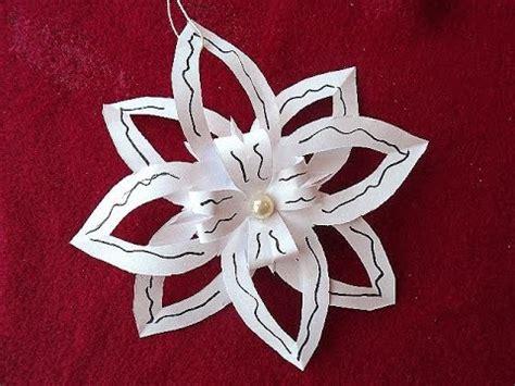 Diy Easy Paper Cut Snowflake - diy paper snowflake 4 easy cut out snowflake