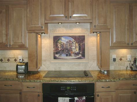 murals for kitchen backsplash decorative tile backsplash kitchen tile ideas archway to venice tile mural