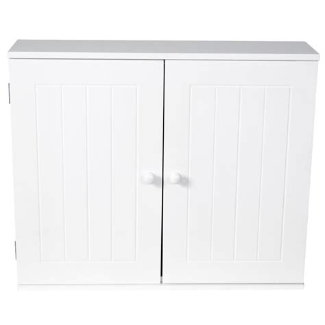 Bathroom Wall Cabinet Double Door Storage Cupboard Wooden Discount Bathroom Storage Cabinets