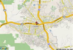 where is corona california on the map map of americas best value inn corona