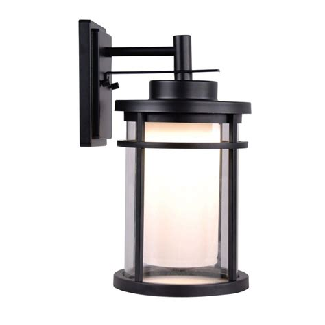 outdoor wall lights black home decorators collection black outdoor led medium wall