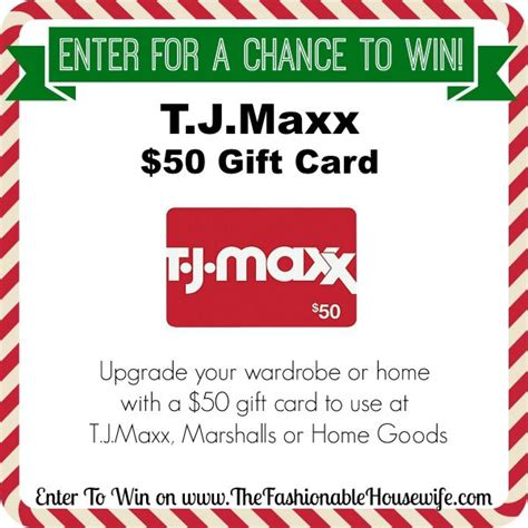 Home Good Gift Card - enter to win a 50 gift card for t j maxx marshalls homegoods