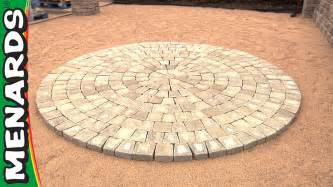 circular patio kit how to menards