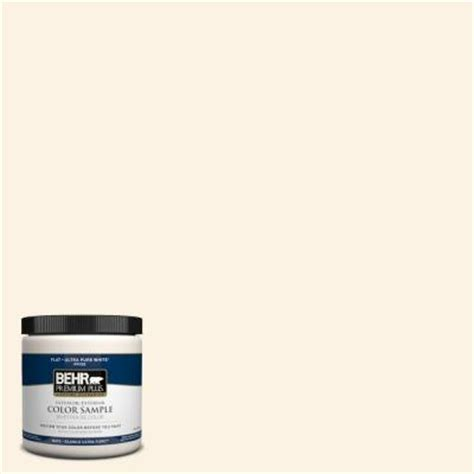 behr premium plus 8 oz pwn 31 candlelight ivory interior exterior paint sle pwn 31pp the