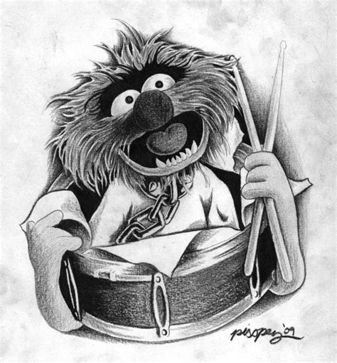 tattoo of animal from the muppets animal muppet portrait by pisopez on deviantart