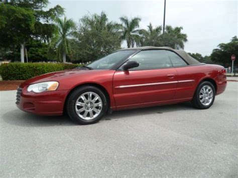 2004 Chrysler Sebring Convertible by Sell Used 2004 Chrysler Sebring Convertible Limited No