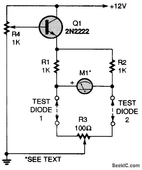 testing of diode and transistor diode matching circuit i measuring and test circuit circuit diagram seekic