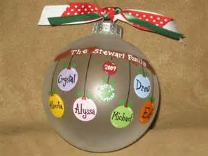 5 8 name personalized family ornament