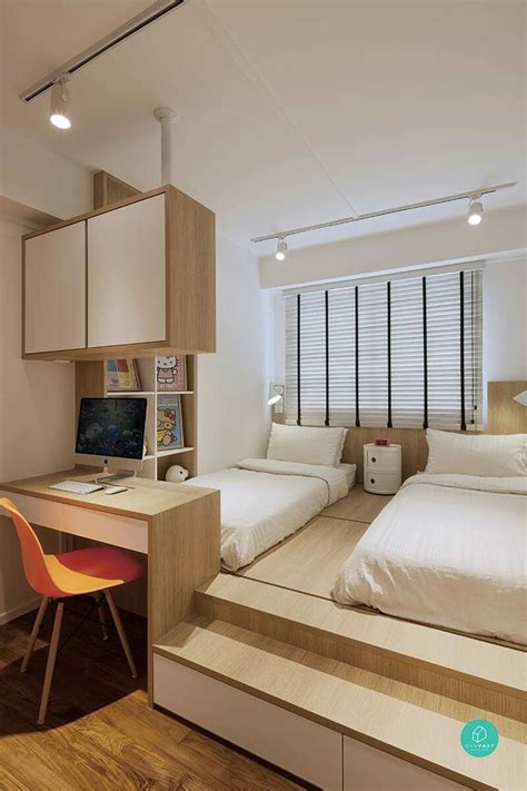 bed table to study platform bed with study table can act as divider to