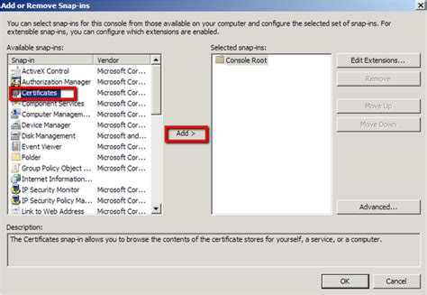 console mmc how to create a mmc snap in for troubleshooting certificates