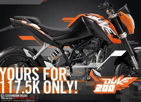Duke 200 Ktm Price Ktm Duke 200 Launched An Introductory Price Of Rs 1