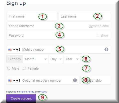 email yahoo sign up create yahoo account create account party invitations ideas