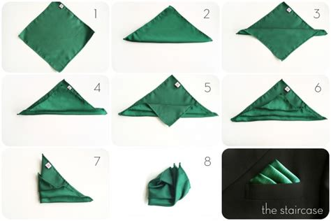 how to fold a pocket square staircase fold henkaa