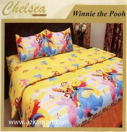 Sprei Winnie The Pooh Sprei Chelsea Kid Karakter Kartun Toko Selimut Sprei