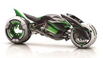 three wheeled kawasaki j concept motorcycle introduced   youtube
