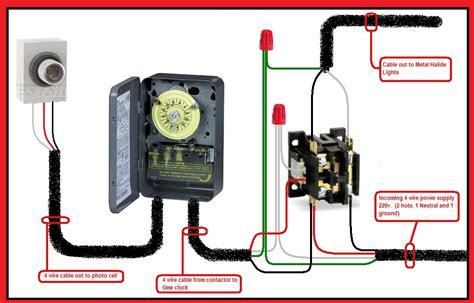 intermatic photocell wiring diagram with timer t101 wiring