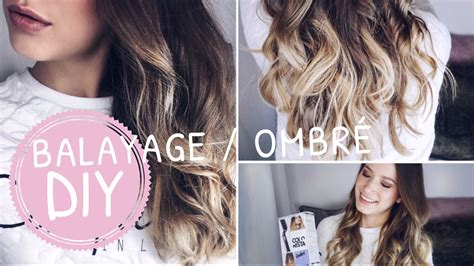 blonde ombre hair color tutorial youtube diy balayage ombre hair tutorial selber f 196 rben zuhause