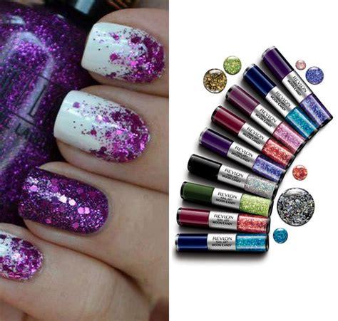 glittery purple nail art 58 latest simple glitter nail art ideas golfian com