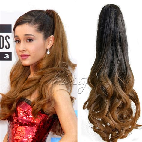Ponytail Jepit Curlyhaircliphair Clipwig 20 quot synthetic hair wavy claw clip on ponytail haie extensions curly hairpiece hair