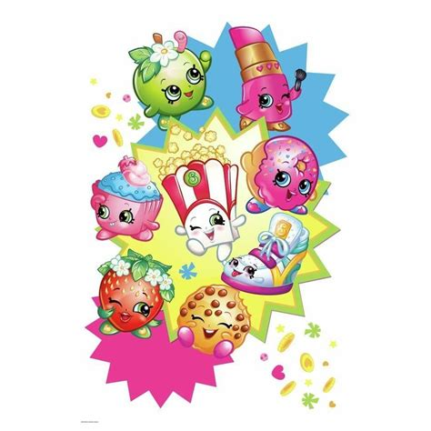 Poppy Wall Stickers 32 new giant shopkins burst graphic mural wall decals