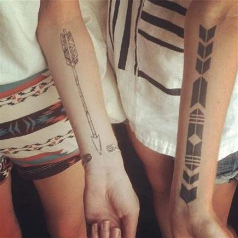 bow and arrow couple tattoo inspiration ink me reiding hoodred reiding
