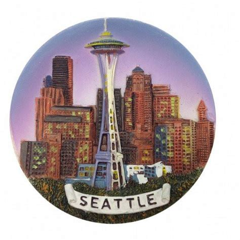 Seattle Giveaways - seattle souvenirs seattle night skyline magnet germangiftoutlet com