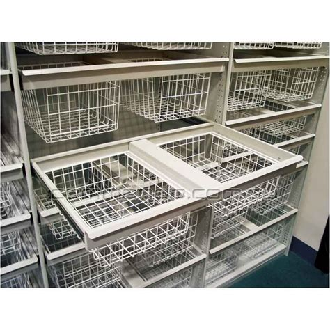 wire basket shelving system pull out wire basket drawer accessories commando