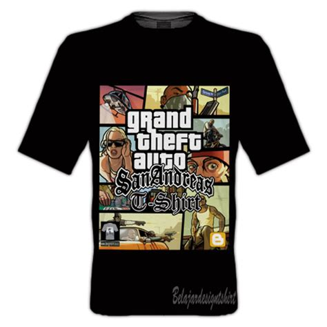 koleksi psd desain kaos gta san andreas t shirt
