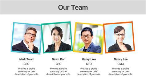 team members templates presomakeover