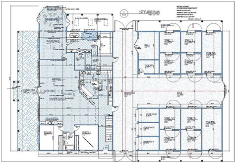3 Bedroom 2 Floor House Plan 6 stall 2 foaling 3 groom tack wash 3 bedroom horse