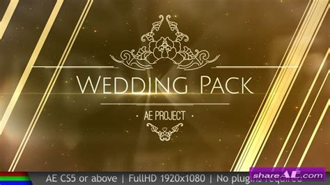 Videohive Wedding Pack 187 Free After Effects Templates After Effects Intro Template Shareae Videohive After Effects Templates Free