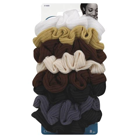 goody ouchless ribbed scrunchies neutral  pcs