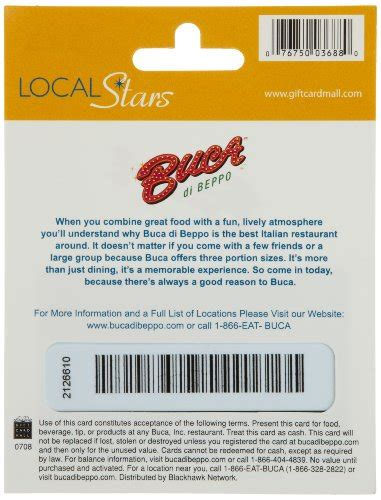 Buca Di Beppo Gift Cards - buca di beppo gift card 25 food beverages tobacco food items