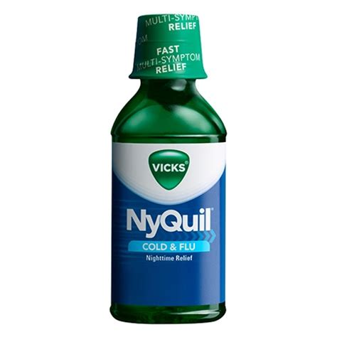 vicks nyquil cold flu nighttime relief liquid medicine