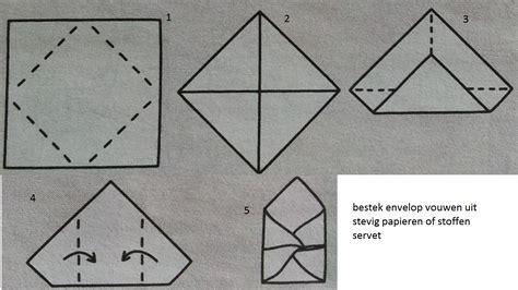 bootje vouwen vierkant papier envelop vouwen met servet hobby blogo nl