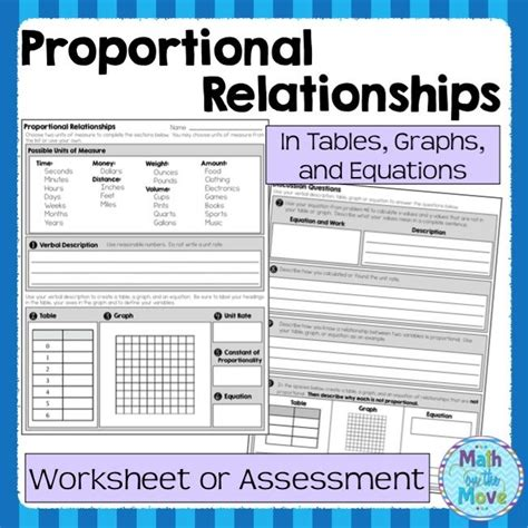 Constant Of Proportionality Worksheet by Proportional Relationships Worksheet Assessment 7 Rp 2